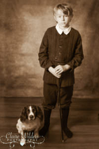 A gentleman and his dog