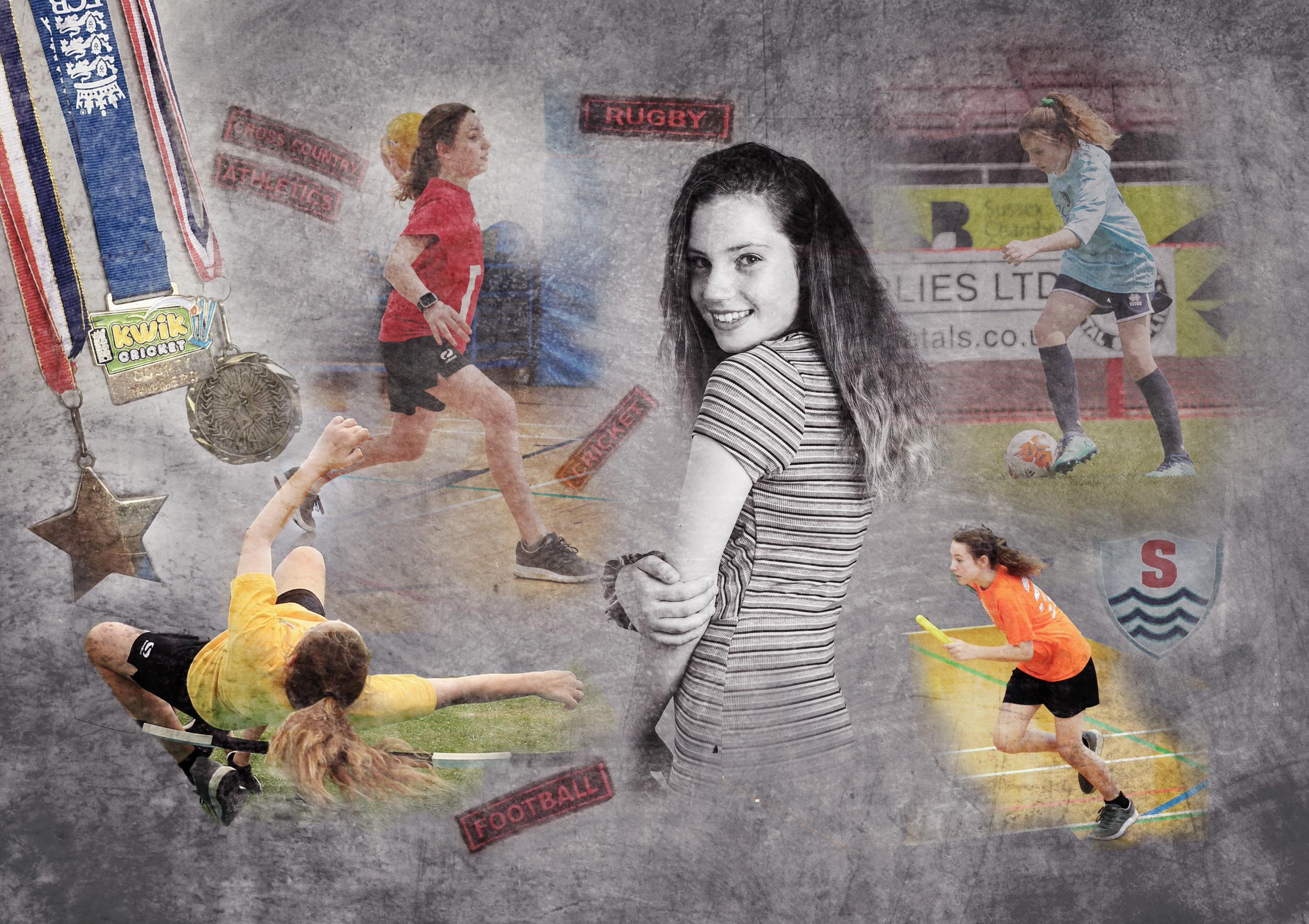 Sports collage photograph Horsham