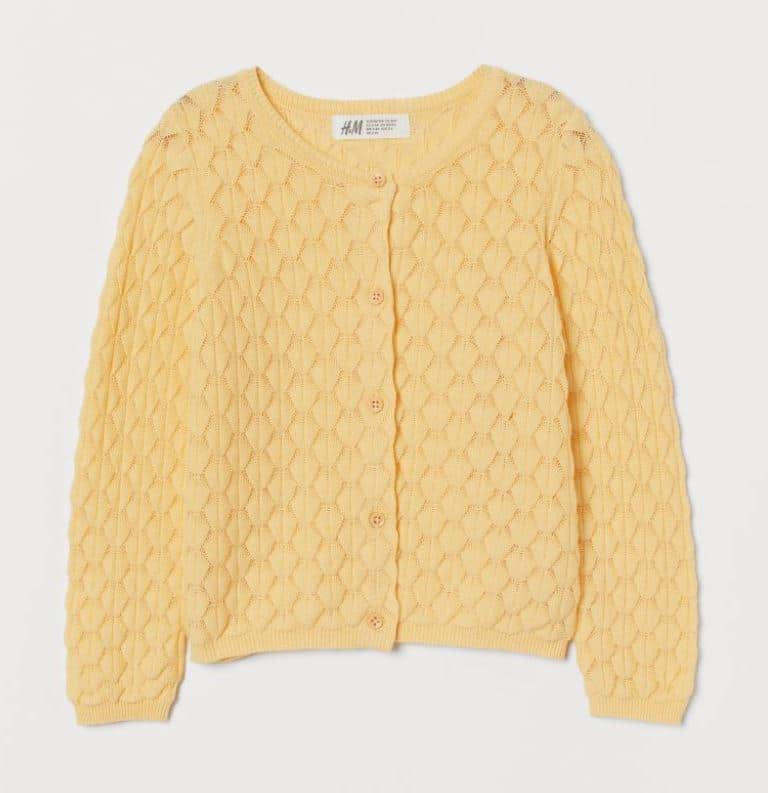 H&M Yellow cardigan - young girl