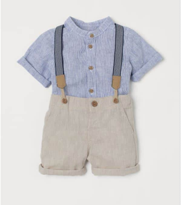 H&M little boys linen outfit