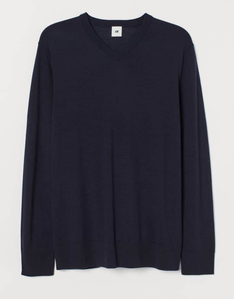 H&M mens jumper blue