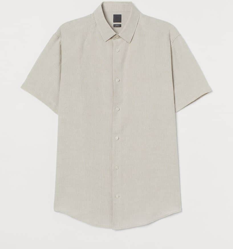 H&M mens linen shirt