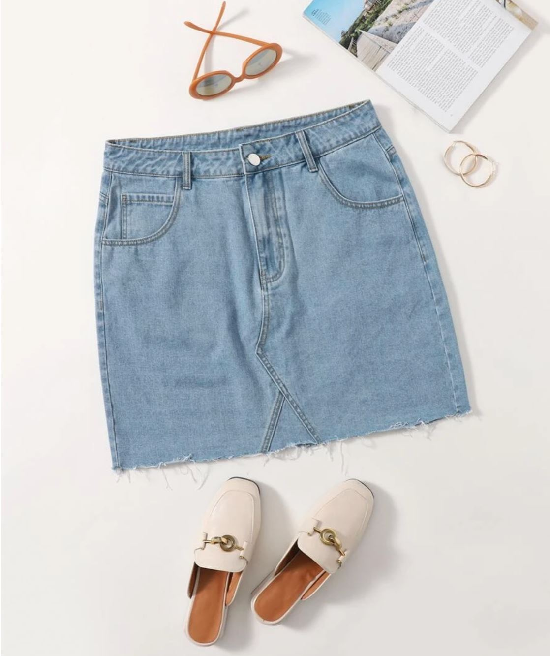 Shein denim skirt