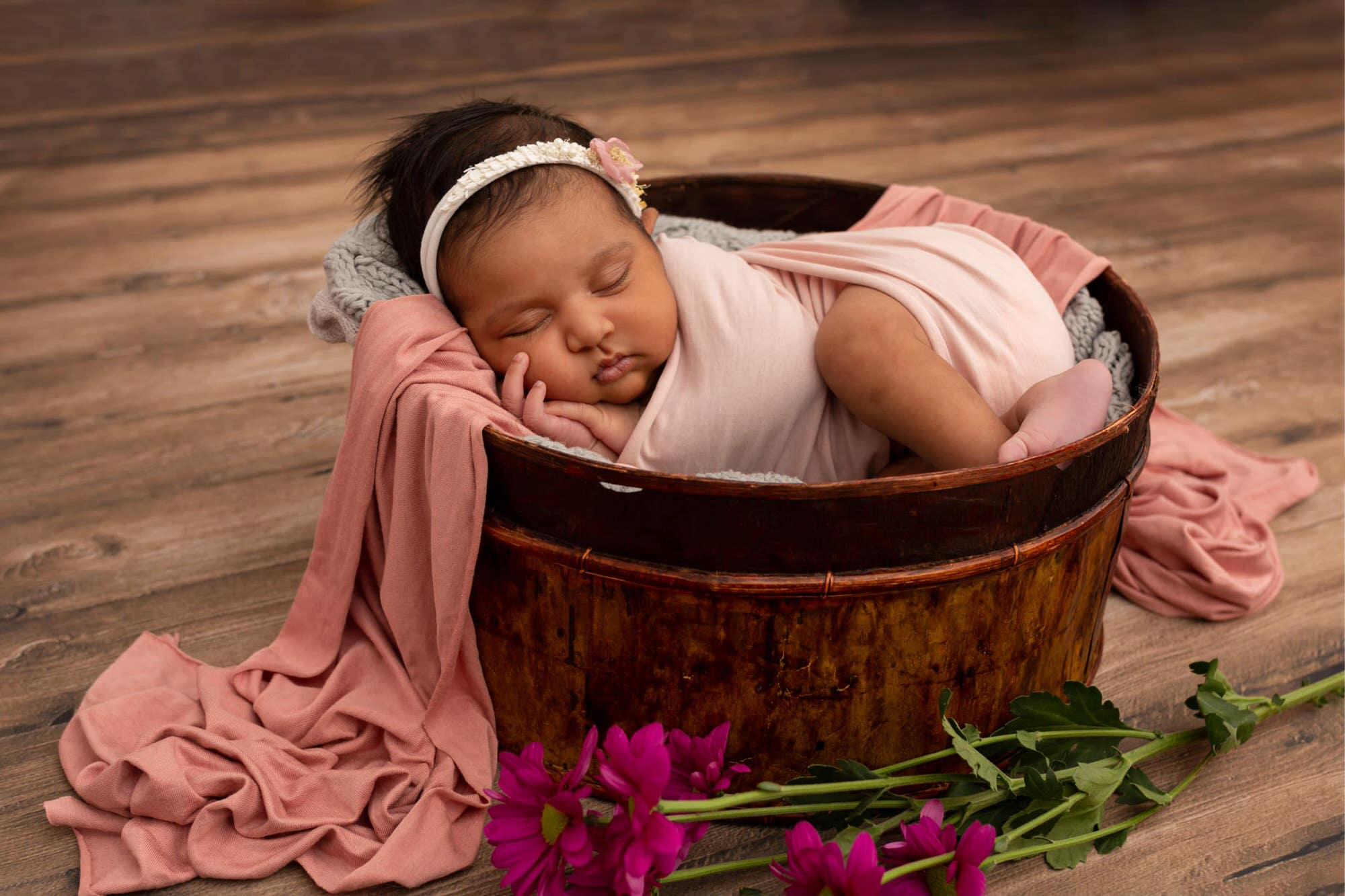 newborn photography session in Horsham